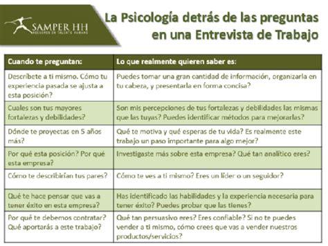 preguntas de entrevista a una empresa psicologos peru preguntas en una entrevista de trabajo