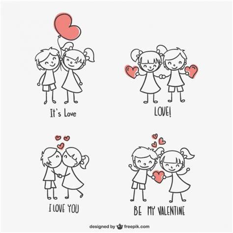 imagenes blanco y negro san valentin dibujos de ni 241 os de san valent 237 n descargar vectores gratis