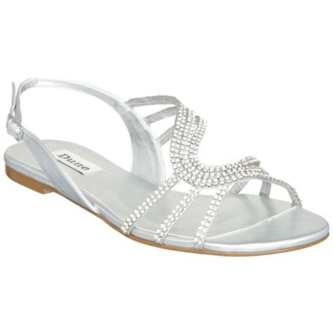 prom shoes flats silver formal flat silver sandals for wedding leather diamante