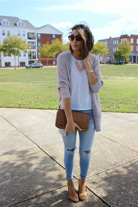 what to wear with light brown boots women s grey open cardigan white crew neck t shirt light