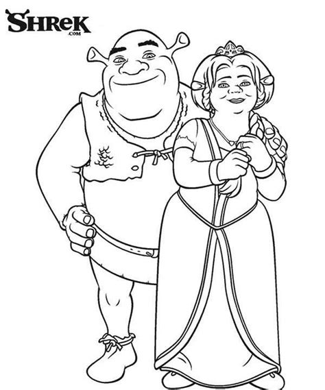 coloring pages of princess fiona shrek and princess fiona coloring page