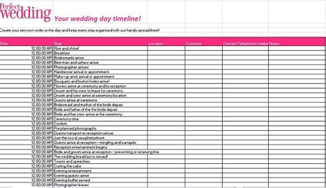 35 Beautiful Wedding Guest List Itinerary Templates Wedding Invite List Template