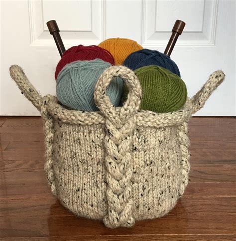 knitted basket pattern knitting pattern entangle basket knitting pattern