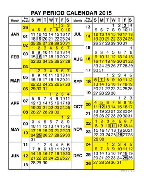 printable government calendar 2015 2014 federal pay periods calendar template 2016