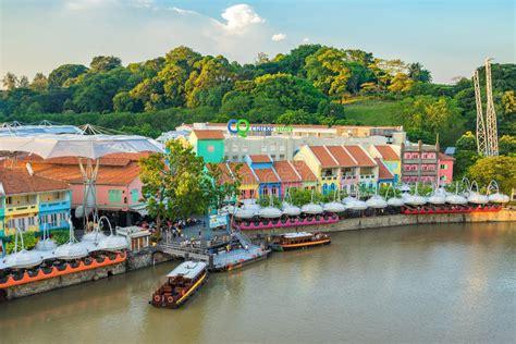 porto singapore vecchio porto di clarke quay a singapore fotografia stock