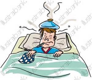 homme malade au lit illustration malade libre de droit sur
