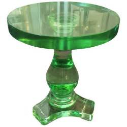 Green Glass Table L Exquisite Green Solid Murano Glass Table At 1stdibs