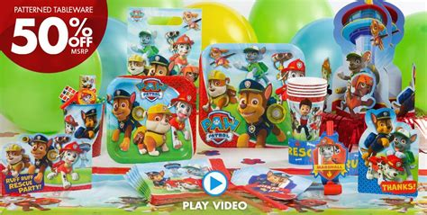 Mexican Home Decor by Paw Patrol Party Supplies Paw Patrol Birthday Party City