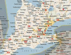 map of southwestern ontario canada pro fleet care mobile rust and rust proofing