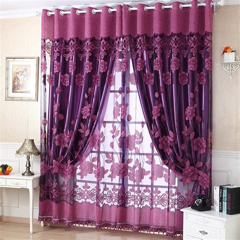 scarf valances for living room stylish flower tulle door window curtain drape panel sheer scarf valances 4 colors living room