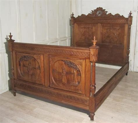 antique beds breton carved oak marriage double bed 261913