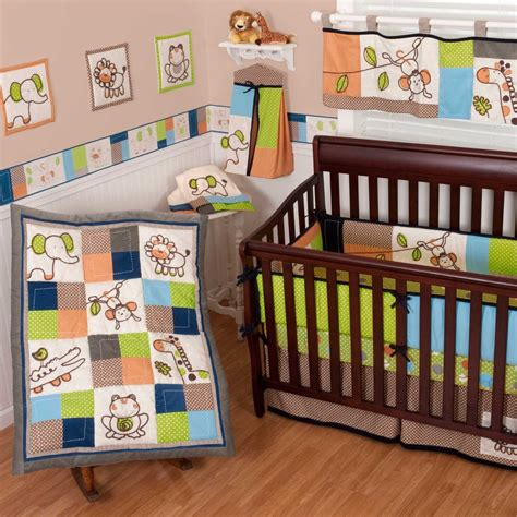 baby animal crib bedding sumersault animal patch crib bedding collection baby