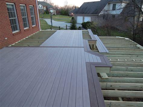 pvc decke azek pvc deck with benches miami township oh area