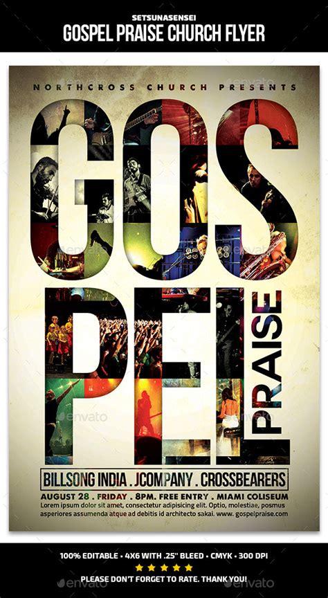 Gospel Praise Church Flyer By Setsunasensei Graphicriver Gospel Church Flyer Template