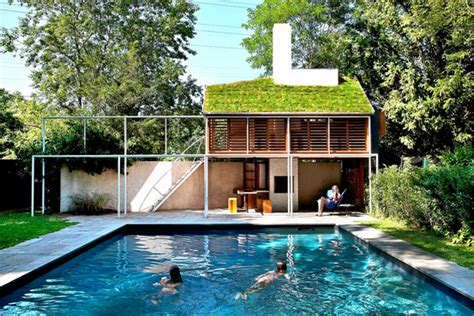 home design story aquadive pool a sod roofed pool house in east hton wsj