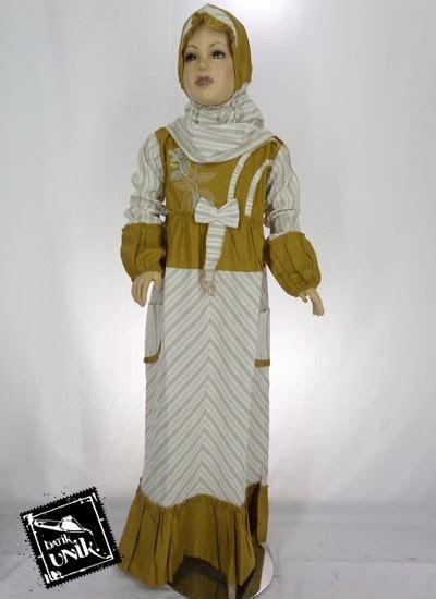 Sale Gamis Anak Pita Size M baju batik gamis anak motif lurik pita warna baju muslim anak murah batikunik