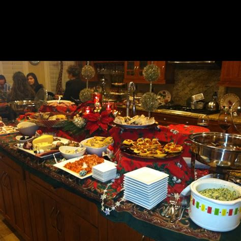 christmas appetizer buffet2 appetizer tables buffets