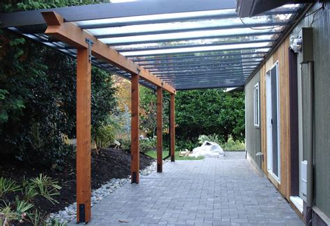 Glass Covered Patio by Black Aluminum Patio Cover With Glass Infill And Wood Yelp