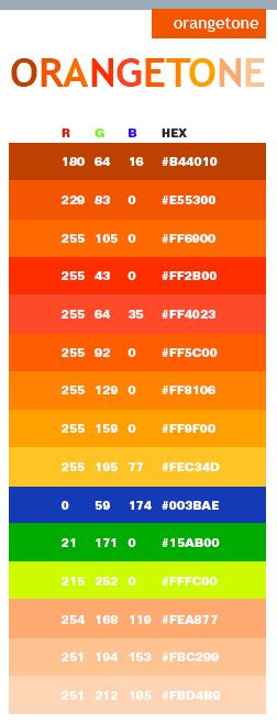 fluorescent orange color html css rgb hex color code orange tone web colors color pinterest