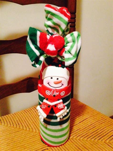sock exchange wine socks and a bottle neck decoration make a