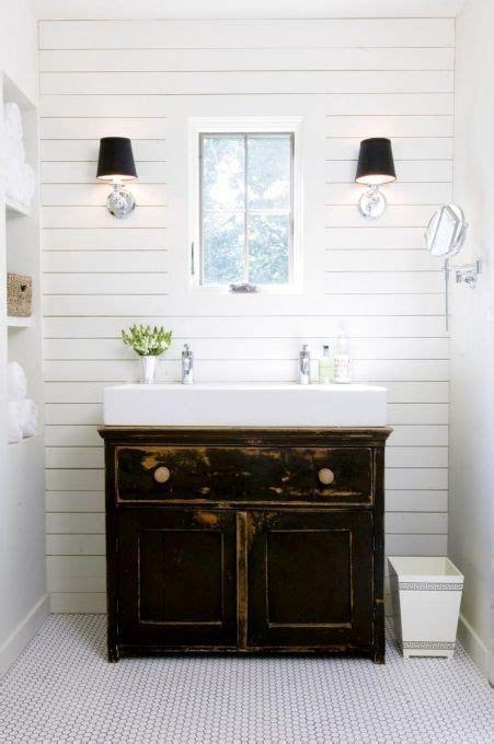 small farmhouse bathroom vanity small white trough sink