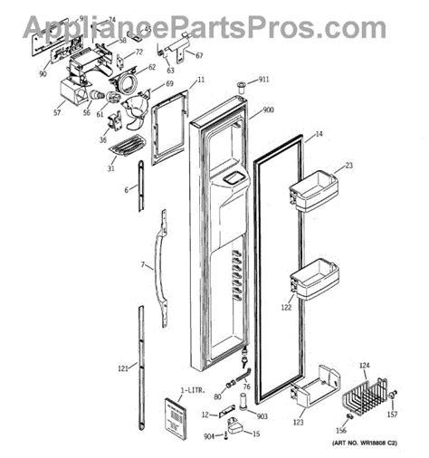 ge appliances parts diagrams ge wr55x10307 interface disp asm bk appliancepartspros