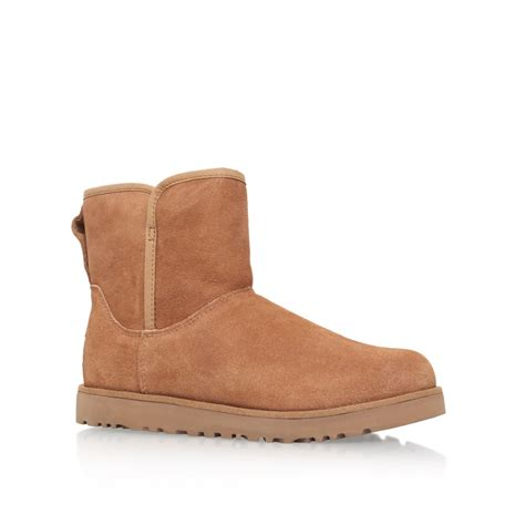 fur ugg boots ugg flat fur lined boots in brown lyst