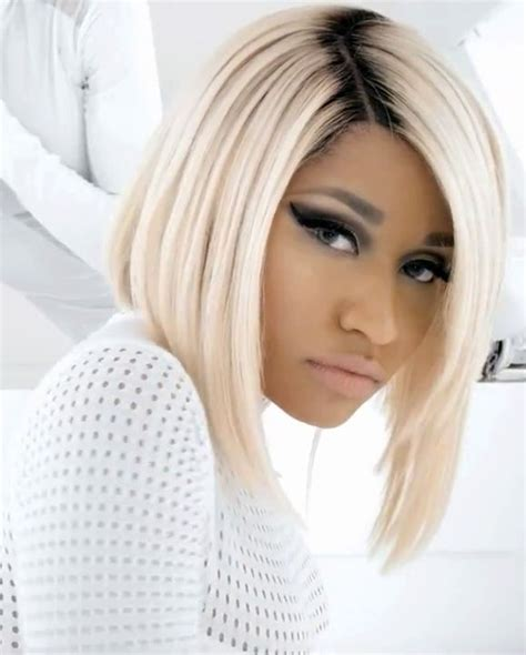 platinum blonde bob images nicki minaj s platinum blonde bob weaves pinterest