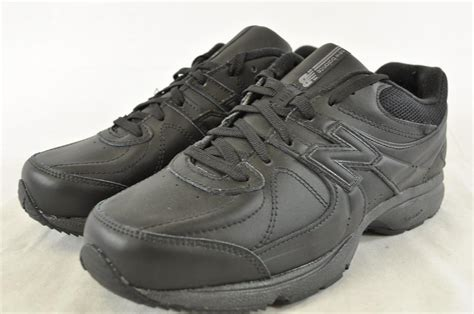 new balance mens mw410 health walking black leather shoes