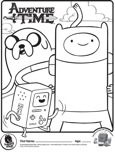 free coloring pages of mcdonalds game