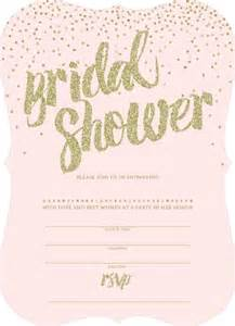 pink and gold glitter bridal shower invitation blank invitations cards