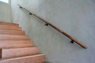 banister handrails a simple and sleek wooden handrail decoist