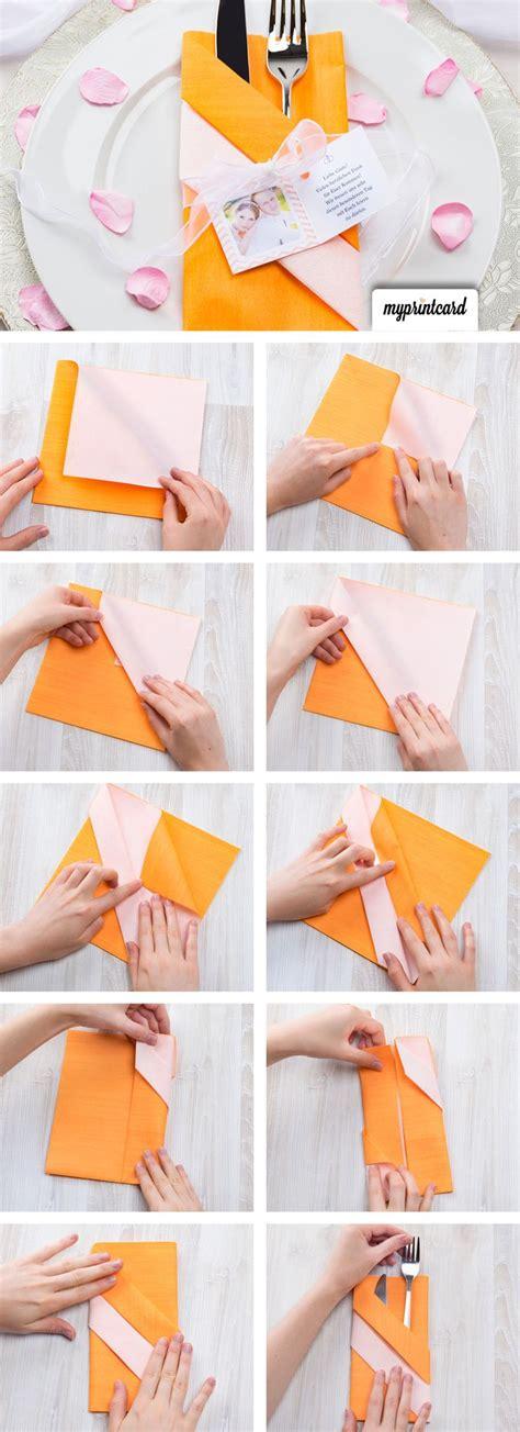 die besten  servietten falten ideen auf pinterest