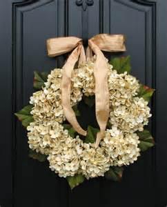 Wedding Wreaths For Front Door Hydrangea Wreaths Fall Wedding Decor Wedding Wreaths