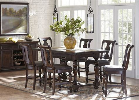 havertys dining room morningside counter height dining set at haverty s