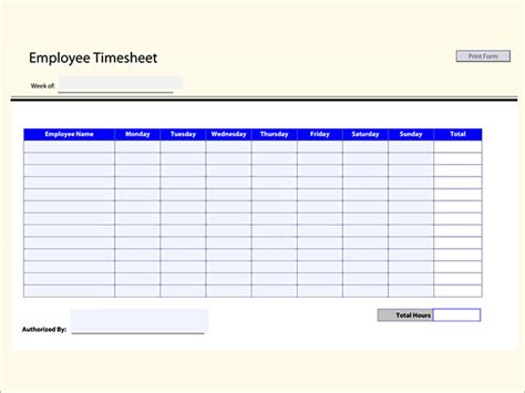 17 Timesheet Calculator Templates To Download For Free Sle Templates Employee Timecard Template Excel