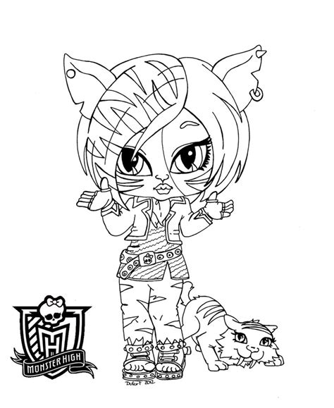 monster high coloring pages baby and pet all about monster high dolls baby monster high character