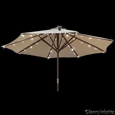 Solar Umbrella Lights Solar Umbrella String Lights