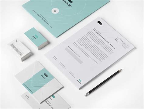 business card letterhead envelope mockup stationery branding psd mockup includes envelopes