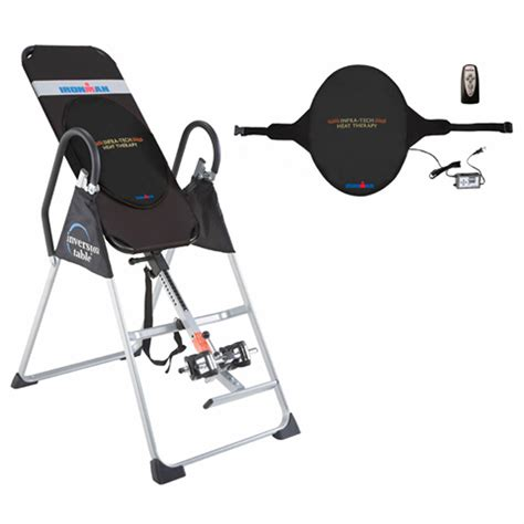 inversion table with heat and ironman elite inversion table with infrared heat therapy