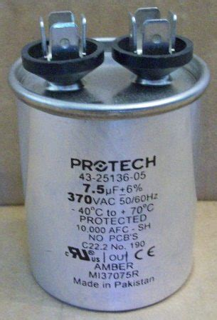 capacitor for ruud heat capacitor for rheem heat 28 images rheem ruud protech capacitor 60 5 uf 370 43 25135 29