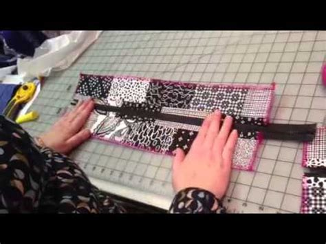 youtube zipper tutorial part 1 zipper panel for top of tote bag youtube