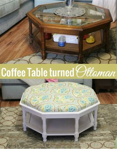 turn a coffee table into an ottoman 17 best images about refurbished ideas on pinterest