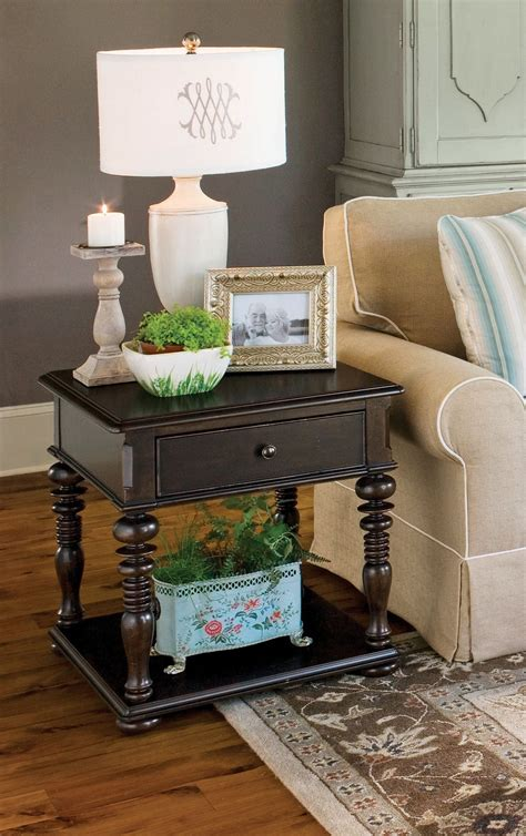 paula deen end table paula deen home tobacco rectangular end table from paula