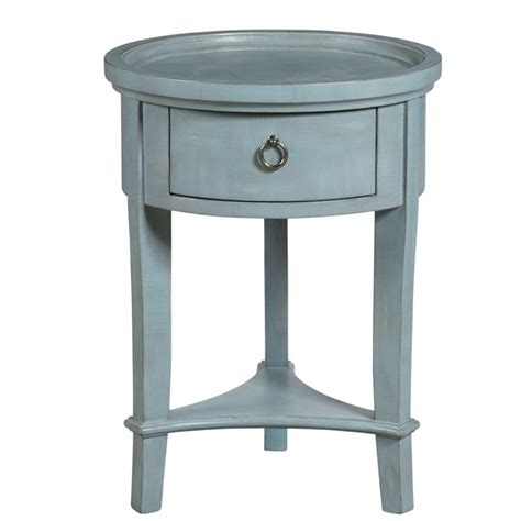 pulaski accent tables pulaski accentrics home round accent table in blue p020277