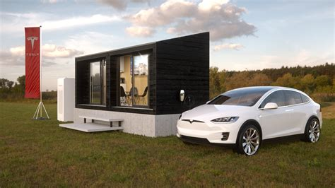 Tiny House Concept by Tesla Tiny House Concept Renders Infusion Studios