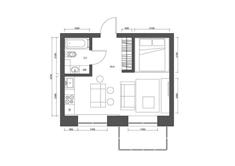4 tiny apartments 30 square meters includes floor plans