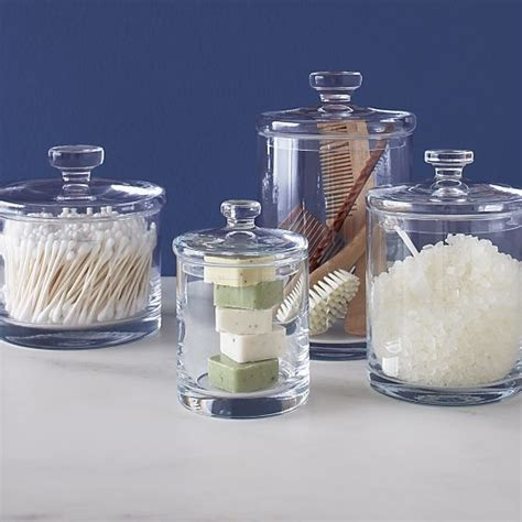 bathroom glass canisters 1000 ideas about glass canisters on pinterest canisters