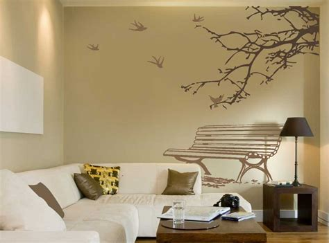 living room wall decals with beautiful garden theme ideas