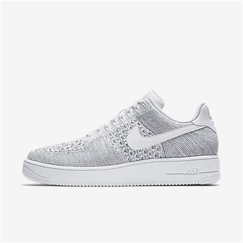Nike Air 1 Flyknit Low White nike air 1 flyknit low cool grey white mens shoes sale